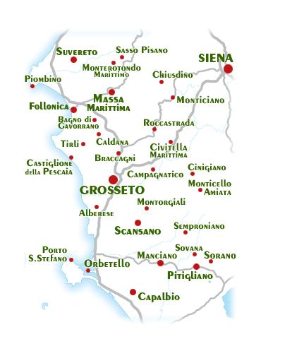 Immagini Cartina Toscana.Cartina Toscana Mare Con Segnalate Le Spiagge Per I Cani I Siti Turistici Ed Altro